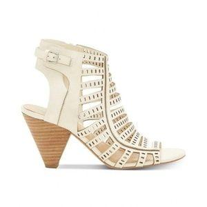 Vince Camuto Evalina Laser Cut Cone Heel Sandals